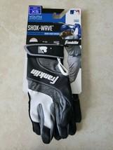 Franklin Shok-Wave Batting Gloves Black White Gray YOUTH XS - $11.50
