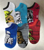 NWT Pack Of 6 Pairs Disney STAR WARS Boys Ankle Socks Youth size s/m 9-2.5 - $9.50