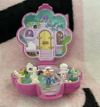 Vintage Polly Pocket Bluebird 1990 Garden Surprise Compact & Dolls *Complete Set - $94.99
