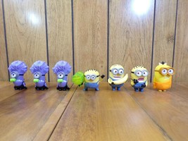 7 McDonalds Happy Meal Toy Minion Figures from Despicable Me/Minions Movie - $6.90