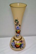 Beautiful Antique Floral Bristol Mocha Vase - $9.95