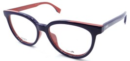 Fendi Rx Eyeglasses Frames FF 0122/F MFW 51-16-140 Blue Brick Italy Asia... - $120.54
