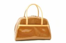 LOUIS VUITTON Vernis Tompkins Square Hand Bag Bronze M91103 LV Auth 10861 - $360.00