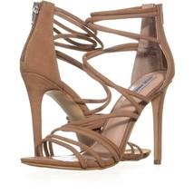 Steve Madden Santi Strappy Dress Sandals 229, Camel Leather, 10 US - $37.43