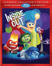 Disney Pixar Inside Out [3D+Blu-ray+DVD]