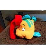 McDonald Plush Flounder With Santa hat  Fish Little Mermaid - $7.30