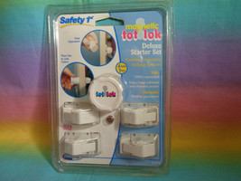 Safety 1st Magnetic Tot Lok Complete Deluxe Starter Set - 4 Locks 1 Key ... - $5.89