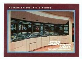 Star Trek The Next Generation card #264 Main Bridge Aft Stations - $3.00