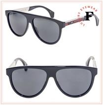 GUCCI SEGA Stripe 0462 Ivory Black Sport Aviator Sunglasses GG0462S Unisex - $257.40