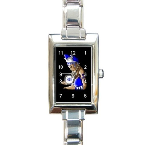 Ladies Rectangular Italian Charm Watch Zeta Phi Beta  Gift model 38283392