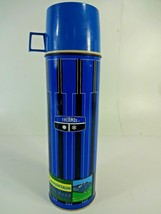 VTG King Seeley 1971 Thermos Blue / Black # 2410 w/ Rocky Mountain Park Decal - $31.66