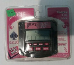 1994 Tiger Bicycle Video Black Jack Electronic Card Game New Sealed 75-035 - $7.91