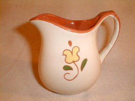 PA dutch pottery creamer handpainted flower  Cream is All But The Milk i... - $25.00