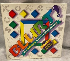 Blurt The Webster's Game of Word Racing Board Game Family Fun Regular and Jr. - $19.75