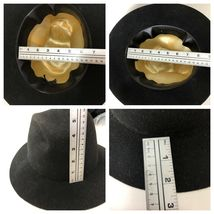 Vtg Western Outback Hat Mens Black Wool Felt Indiana Jones Dorfman Pacific USA  image 12