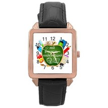 Ladies Rose Gold Leather Watch Ukrainian Teacher My Best - $19.99