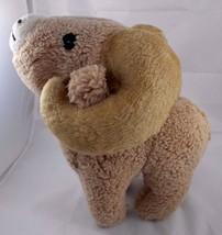"Animal Fair Big Horn Sheep Ram Plush 14"" Tall Vintage Stuffed Animal toy - $17.95"