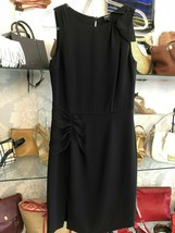 GIORGIO ARMANI Black Sleeveless Sheath Dress Sz 42 or US 6 $1600 - $311.97