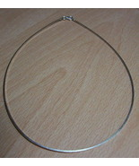 """925 STERLING SILVER 1 MM NO STONE OMEGA CHOKER CHAIN (16 """") - $52.91"""