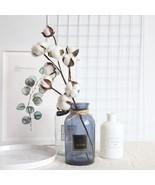 10 Head Dried Cotton Flower Artificial Flower Branch Wedding Party Decor... - $13.00