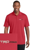 Toyota TRD Pro Red Embroidered Polo Sport Golf Shirt Polyester Dry-Fit - $24.99