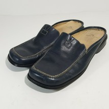 Anne Klein Women's Slip-on Loafers Leather Blue Size 7M - $14.84