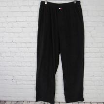 Tommy Hilfiger Pants Mens Medium M Black Fleece Sleepwear Pyjama Box Logo B3 - $27.88