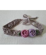 Crochet baby headband, tieback, cotton, toddler, girl, teen, women, baby... - $8.90