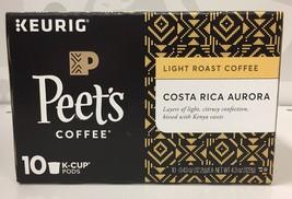 Peets Coffee Costa Rica Aurora Coffee K Cup Cups Keurig Peet's 4.3 oz - $12.09