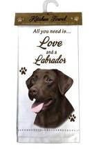 LABRADOR RETRIEVER CHOCOLATE DOG KITCHEN DISH TOWEL - $9.99