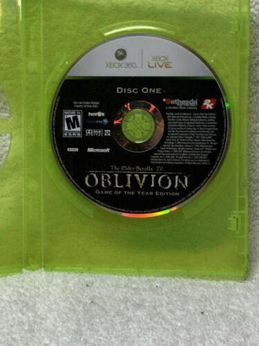 Primary image for The Elder Scrolls IV: Oblivion (Microsoft Xbox 360, 2006)(DISC ONLY) 19018