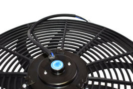"""140041 16"""" Heavy Duty 12V Radiator Electric Wide Curved Blade FAN & RELAY image 5"""