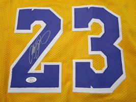 LEBRON JAMES / AUTOGRAPHED LOS ANGELES LAKERS CUSTOM BASKETBALL JERSEY / COA image 3