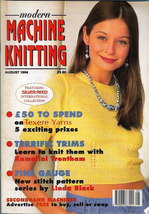 Modern Machine Knitting Aug 1994 Magazine Sportsman Cricket Tennis Cable... - $5.69