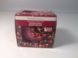 Luminessence Black Cherry Candle Soy 3 oz In glass votive NEW - $4.99