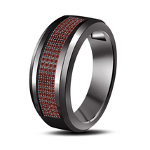 Red Garnet Mens Wedding Engagement Pinky Ring Band 925 Sterling Solid Si... - $108.99