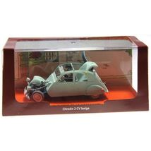 Crashed Citroen 2cv Castafiore The Emerald Voiture Tintin cars 1/43 image 4
