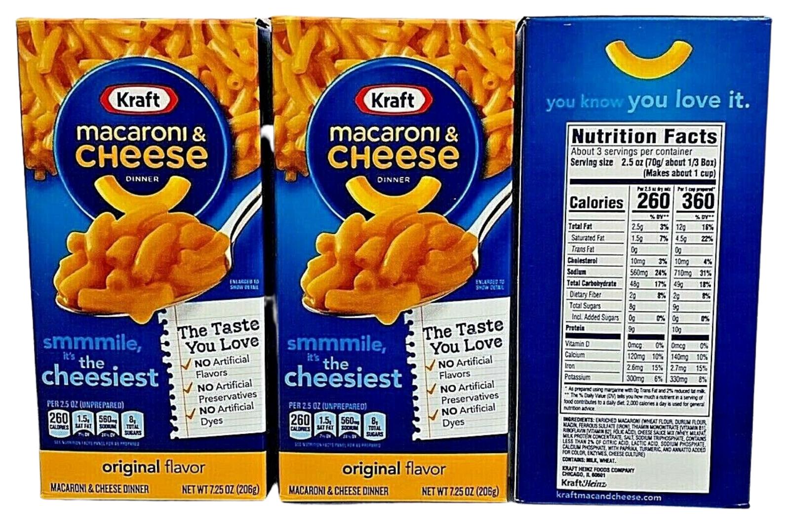 Kraft Original Flavor Macaroni & Cheese Dinner  7.25 oz - (3 Boxes)
