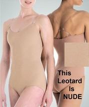 Motionwear 107L Women's Large Nude Undergarment Leotard w/ Clear Adj. St... - $22.99