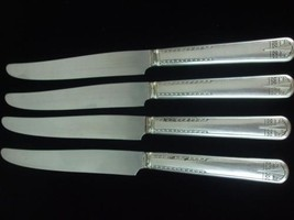 Vintage Silverplate 4 Dinner Knives Simeon L George H Rogers Company A1X Oneida - $12.82