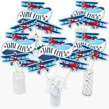 Taking Flight - Airplane - Vintage Plane Baby Shower or Birthday Party C... - $18.54