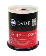 HP DM16100CB 4.7GB DVD-Rs, 100-ct Spindle - $37.58