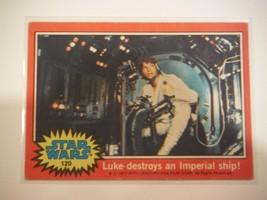 Star Wars Series 2 (Red) Topps 1977 Trading Card # 120 Luke Destroys An Imperial - $1.49