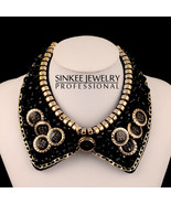 Vintage Beaded Collar Buttons Lace - $30.99