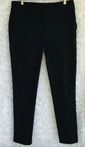 Ann Taylor Loft Dress Pants Womens Size 10 Tall Black Tapered Stretch Zi... - $17.32