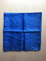 Vintage 60s Vera Neumann square silk scarf (Blue and white geometric) image 2