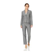 Le Suit Womens 2 Piece Pant Suit Blazer 2 Button Notch Collar Petite Siz... - $79.99