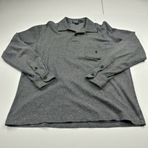Polo Ralph Lauren Mens Long Sleeve Polo Shirt Rugby Large L Black White ... - $20.00