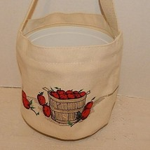 BJ's DINGHY PAIL~CANVAS~APPLES~TOOLS~TOYS~WATER~PLANTS~SEWING~CRAFTS~CAN... - £17.96 GBP