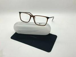 NEW NIKE 7254 215 TRANSPARENT  BROWN OPTICAL Eyeglasses 56-18-145MM /CASE - $58.17